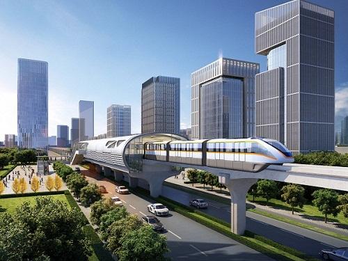 近年来,中铁咨询集团结合国内大中城市对中运量轨道交通的需求,对跨座图片